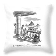 Pharaoh To Son Throw Pillow