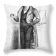 Pharmacist, 19th Century Throw Pillow