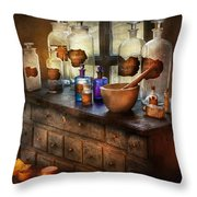 Pharmacist - Medicinal Equipment  Throw Pillow