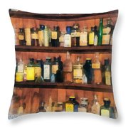Pharmacist - Mortar Pestles And Medicine Bottles Throw Pillow