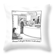 Pharmacist To Customer Throw Pillow