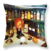 Pharmacy - Behind The Counter At The Drugstore Throw Pillow