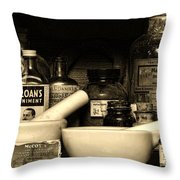 Pharmacy - Cod Liver Oil And More Throw Pillow