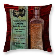 Pharmacy - Cold Remedy Throw Pillow