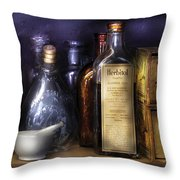 Pharmacy - Constipated  Throw Pillow by Mike Savad