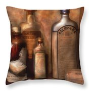 Pharmacy - Indigestion Remedies Throw Pillow by Mike Savad