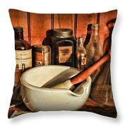 Pharmacy - Opium The Cure All Throw Pillow