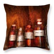 Pharmacy - Pharmacist's Fancy Fluids Throw Pillow
