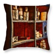 Pharmacy - The Back Room Throw Pillow