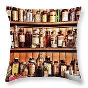 Pharmacy - The Medicine Shelf Throw Pillow