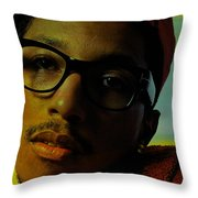Pharrell Williams Throw Pillow by Marvin Blaine