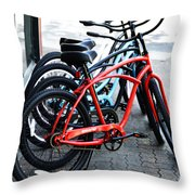 Phat Bikes Throw Pillow