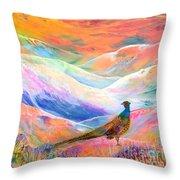 Pheasant Moon Throw Pillow