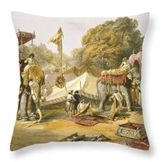 Pheel Khana, Or Elephants Quarters Throw Pillow