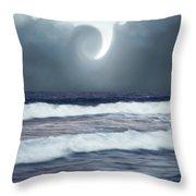 Phenomenon Above The Sea Throw Pillow