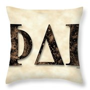 Phi Delta Gamma - Parchment Throw Pillow