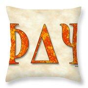 Phi Delta Psi - Parchment Throw Pillow
