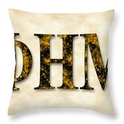Phi Eta Mu - Parchment Throw Pillow
