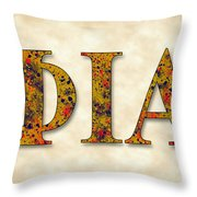 Phi Iota Alpha - Parchment Throw Pillow