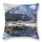 Phi Kappa Mountain Reflected In River Throw Pillow