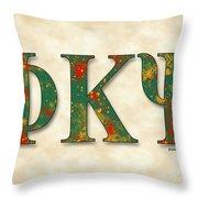 Phi Kappa Psi - Parchment Throw Pillow