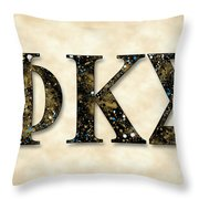 Phi Kappa Sigma - Parchment Throw Pillow