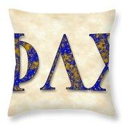 Phi Lambda Chi - Parchment Throw Pillow