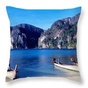 Phi Phi Islands Thailand Throw Pillow