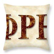 Phi Rho Eta - Parchment Throw Pillow