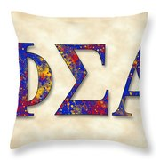 Phi Sigma Alpha - Parchment Throw Pillow