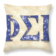 Phi Sigma Gamma - Parchment Throw Pillow