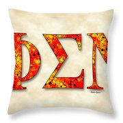 Phi Sigma Nu - Parchment Throw Pillow