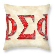 Phi Sigma Phi - Parchment Throw Pillow