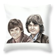 Phil And Don Everly Throw Pillow
