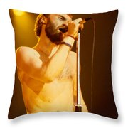 Phil Collins Of Genesis At Oakland Coliseum Throw Pillow