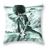 Phil Lynott In Howth Throw Pillow
