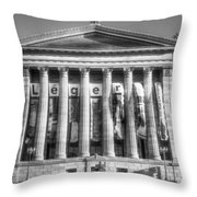 Philadelphia Art Museum Back 1 Bw Throw Pillow