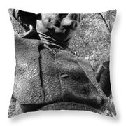 Philadelphia Benjamin Franklin Bust 2bw Throw Pillow