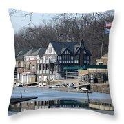 Philadelphia - Boat House Row Throw Pillow