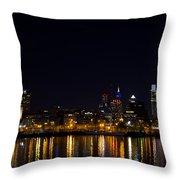 Philadelphia - Bright Lights Big City Throw Pillow by Bill Cannon