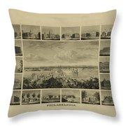 Philadelphia By J Serz Throw Pillow