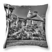 Philadelphia Carpenter's Hall East Side 4 Bw Throw Pillow