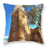 Philadelphia Christ Church Tower 1 Throw Pillow