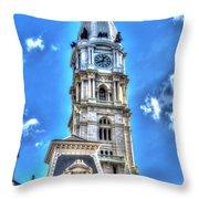 Philadelphia City Hall 1 Throw Pillow