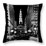 Philadelphia City Hall 1916 Throw Pillow