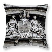 Philadelphia City Hall - City Seal  Throw Pillow