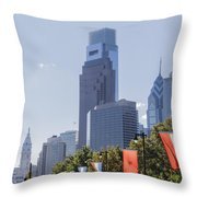 Philadelphia - City On The Rise Throw Pillow