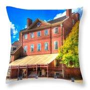 Philadelphia City Tavern Throw Pillow