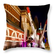 Philadelphia Crash Landing Throw Pillow