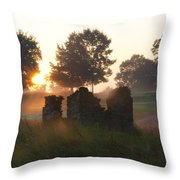 Philadelphia Cricket Club At Sunrise Throw Pillow by Bill Cannon